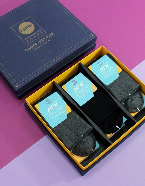 紳士素面寬口襪禮盒組