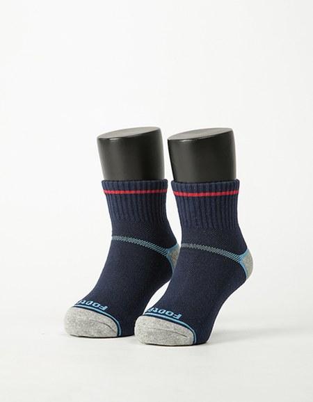 兒童簡約運動氣墊襪