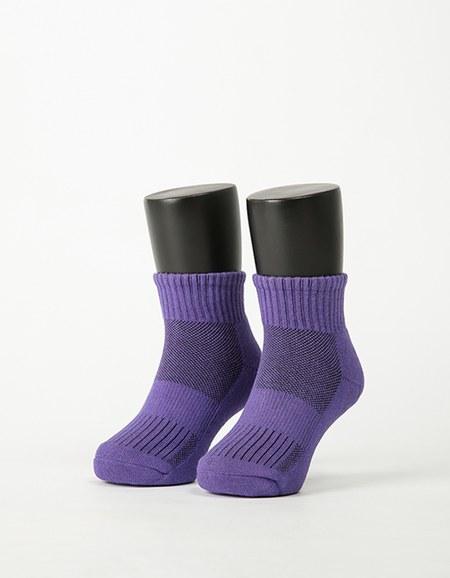特-兒童素面運動氣墊襪
