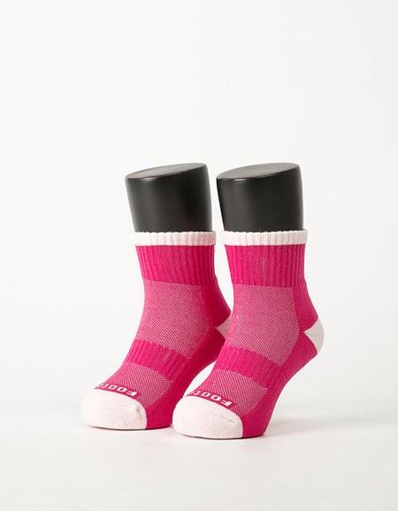 趣味拼色運動氣墊襪