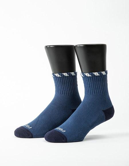繩結風紋運動氣墊襪