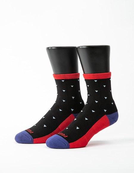 繽紛三角氣墊襪