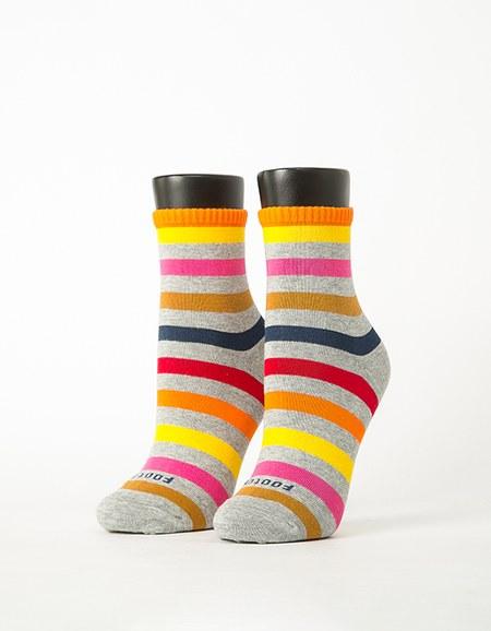 經典彩虹條紋除臭襪